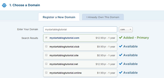 how to choose domain name for personal website